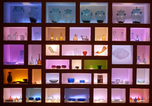la teca dei vetri al museo archeologico nazionale di Adria