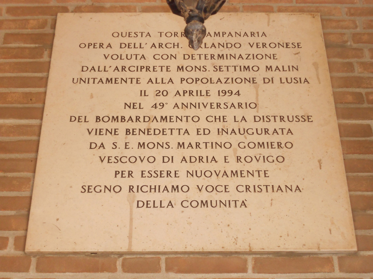 lapide, campanile, Lusia
