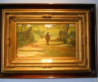 Giovanni Fattori, uomo nel bosco (studio), 1890, Collezione Balzan, Badia Polesine
